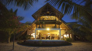 Sansibar Villa Lisa Front Abends