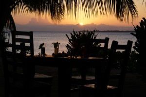 Milele Villas Sansibar  Sonnenuntergang