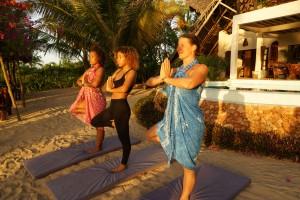 Milele Villas Sansibar  Yoga Stunde