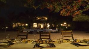 Sansibar Villa Tatu Abendessen